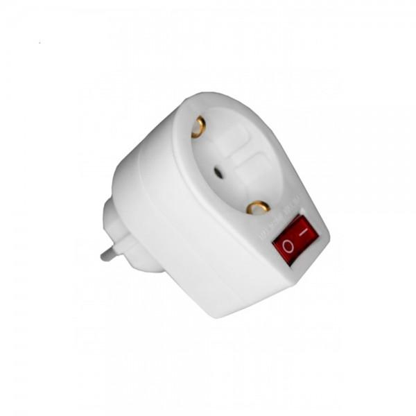 Base enchufe con interruptor luminoso schuko