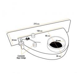 Recogedor de cocina crema (VAC PAN)