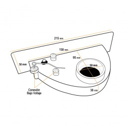 Recogedor de cocina marrón claro (VAC PAN)