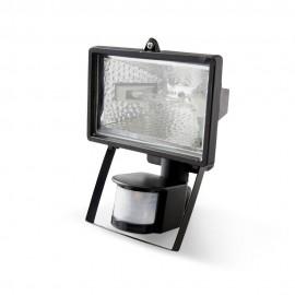 Proyector halógeno 500W IP44 con sensor de movimiento