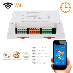 Interruptor Inalámbrico 4 Canales Wi-Fi 2.4GHz 90V~250V AC 10A Sonoff 4CH