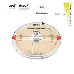 Downlight Led empotrable ajustable blanco 20W 6400K