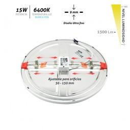 Downlight Led empotrable ajustable blanco 15W 6400K