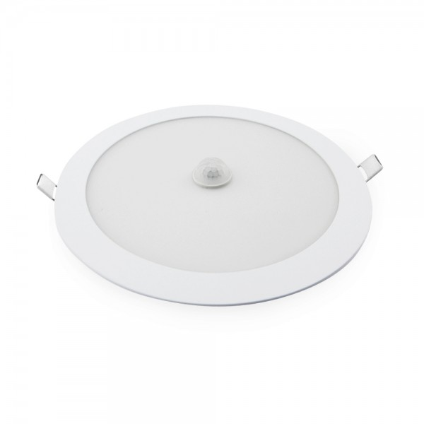 Downlight LED empotrable blanco con sensor de presencia 18W