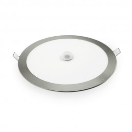 Downlight LED empotrable plata con sensor de presencia 18W 6400K