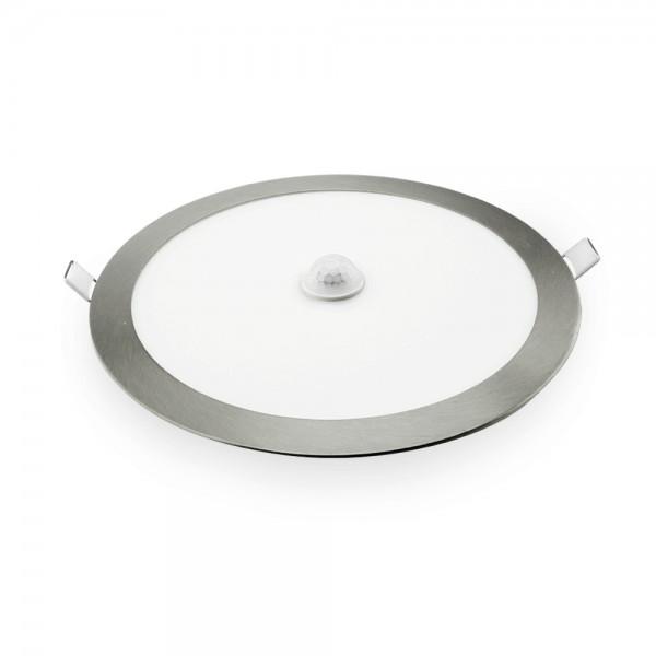 Downlight LED empotrable plata con sensor de presencia 18W 6400K