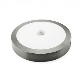 Downlight LED superficie plata con sensor de presencia 18W 6400K