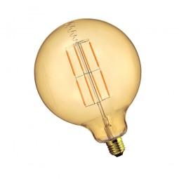 Bombilla filamento led globo E27 8W Ámbar