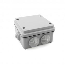 Caja de empalme superficie gris estanca 105x105x65mm IP55