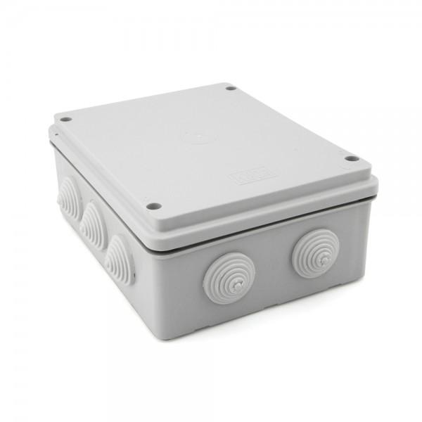 Caja de empalme superficie gris estanca 200x155x80mm IP55