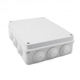 Caja de empalme superficie gris estanca 255x200x80mm IP65