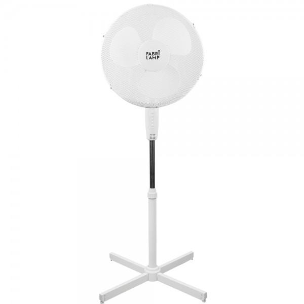 Ventilador de pie Ø45cm blanco 45W