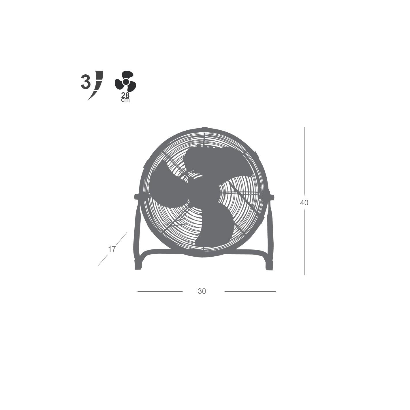 Ventilador industrial de suelo serie austro 55w 36cm - Ventiladores de suelo ...