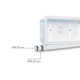 Caja de preinstalación horizontal con desagüe bidireccional