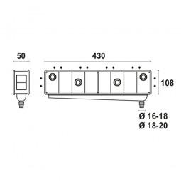 Caja de preinstalación con desagüe bidireccional vertical