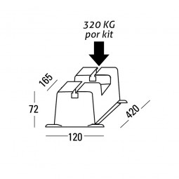 Base de suelo antichoque para unidad externa ECO 420mm