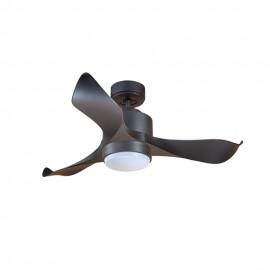 Ventilador de Techo MOTOR DC1 Negro Aspa P1 Negra 106cm Luz L1 Negra