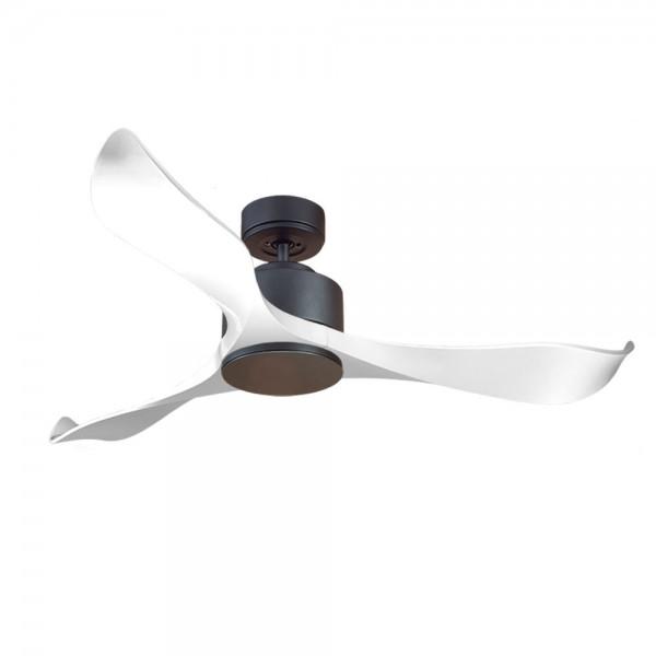 Ventilador de Techo MOTOR DC1 Negro Aspa P2 blanca 132cm Tapon Negro
