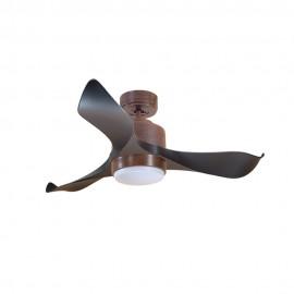 Ventilador de Techo MOTOR DC2 Madera Aspa P1 Negra 106cm Luz L1 Madera