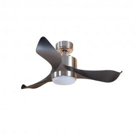 Ventilador de Techo MOTOR DC3 Plata Aspa P1 Negra 106cm Luz L1 Plata