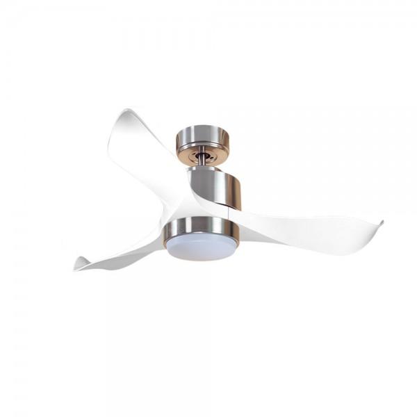 Ventilador de Techo MOTOR DC3 Plata Aspa P1 blanca 106cm Luz L1 Plata