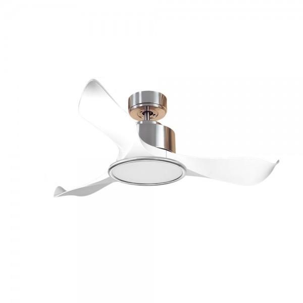 Ventilador de Techo MOTOR DC3 Plata Aspa P1 blanca 106cm Luz L2 Plata