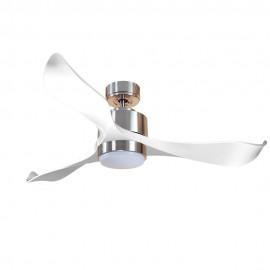 Ventilador de Techo MOTOR DC3 Plata Aspa P2 blanca 132cm Luz L1 Plata