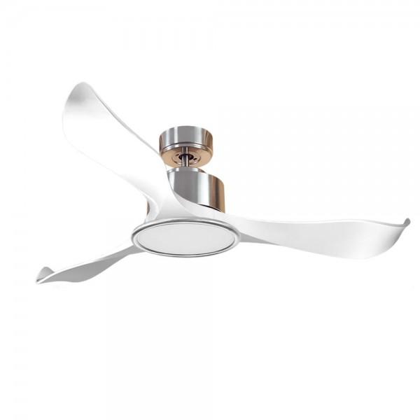 Ventilador de Techo MOTOR DC3 Plata Aspa P2 blanca 132cm Luz L2 Plata