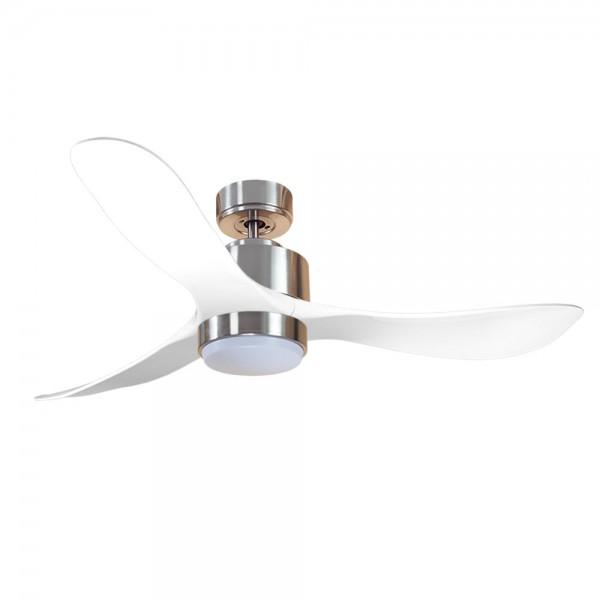 Ventilador de Techo MOTOR DC3 Plata Aspa P3 blanca 132cm Luz L1 Plata