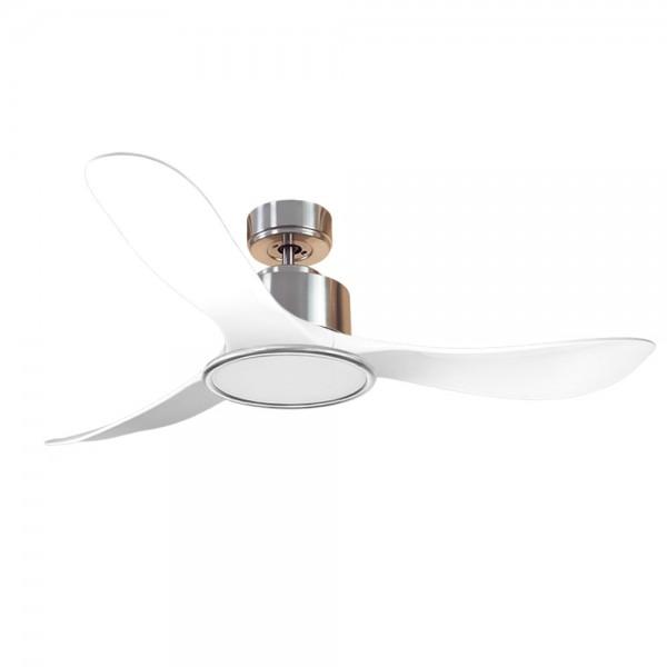 Ventilador de Techo MOTOR DC3 Plata Aspa P3 blanca 132cm Luz L2 Plata