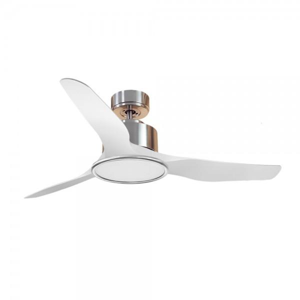 Ventilador de Techo MOTOR DC3 Plata Aspa P4 blanca 127cm Luz L2 Plata