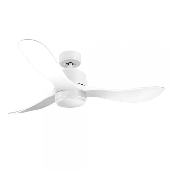 Ventilador de Techo MOTOR DC4 Blanco Aspa P3 blanca 132cm Luz L1 Blanca