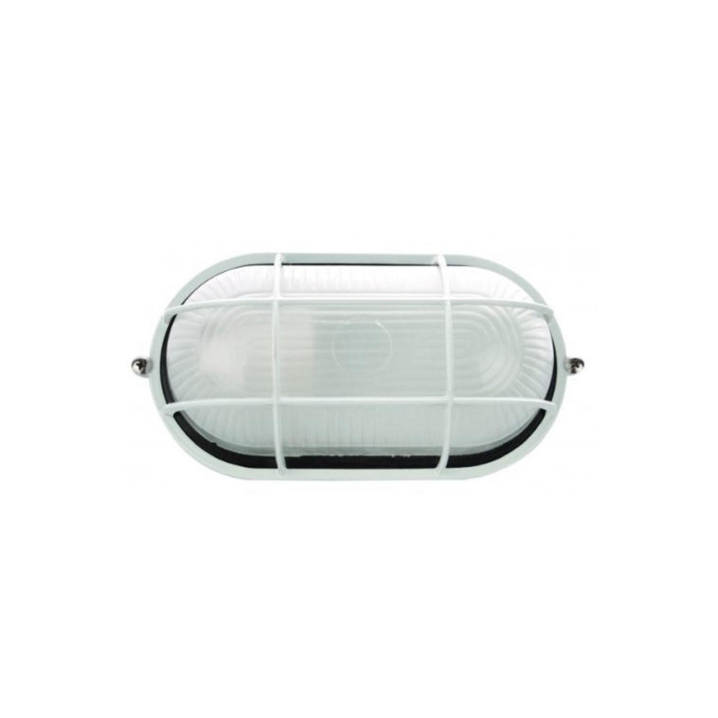 Plaf n de exterior cl sico de aluminio ovalado alg sistemas for Plafones exterior iluminacion