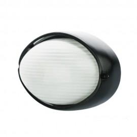 Plafón Exterior Ovalado Liso de Aluminio