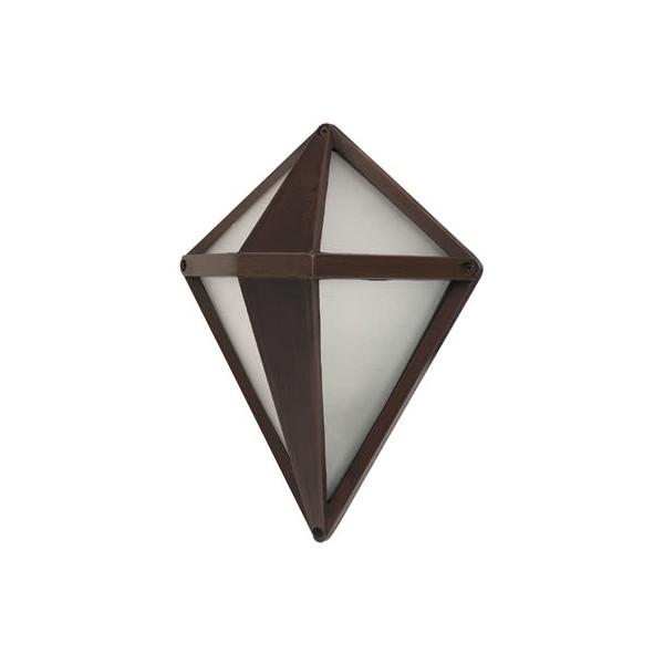 Aplique Exterior Lagrima Marron 1xe27 (29x21.6x14)
