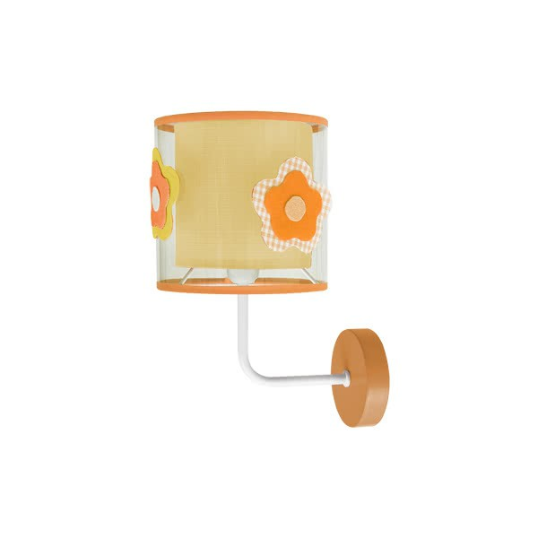Aplique Infantil Flor Naranja 1xe14 (28x19)