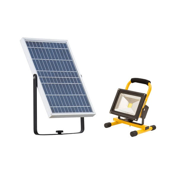 Proyector Portatil Solar Serie Helios Led 20w 1800lm Carga Solar