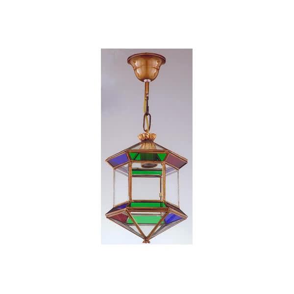 Farol Granadino Hexagonal Colores 1xe27 28x20