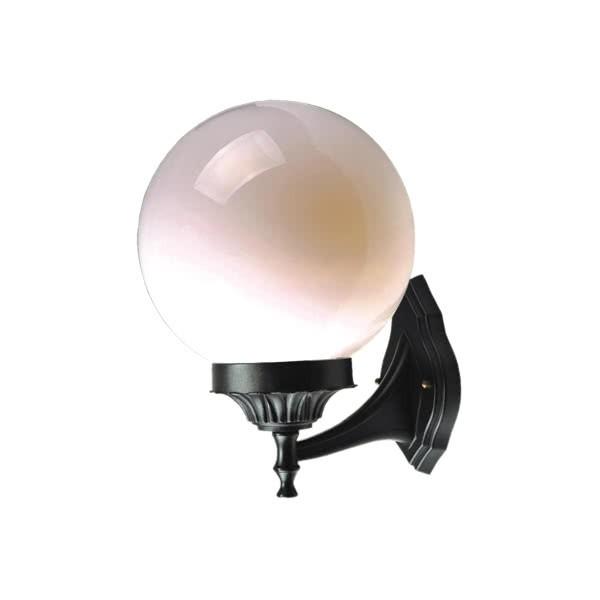 Aplique Exterior Esfera Plata 1xe27 35,80x25 D