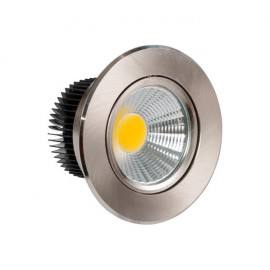 Downlight Redondo Led Jupiter 5w 450lm 4000k Niquel 8.5d