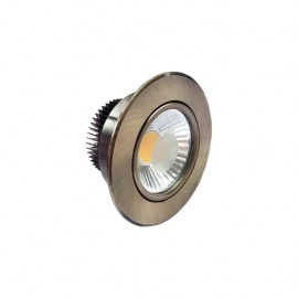 Downlight Redondo Led Jupiter 5w 450lm 4000k Cuero 8.5d