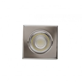 Downlight Cuadrado Led Urano 5w 450lm 4000k Niquel 9.5x9.5