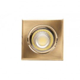 Downlight Cuadrado Led Urano 5w 450lm 4000k Cuero 9.5x9.5