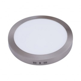Downlight Sup. Red. 12w 6500k Aquiles Led Niquel 950 Lm 17,3dx4h