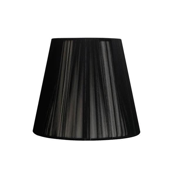 Pantalla Conica Hilo Indira E27 Negra (40x20x26)