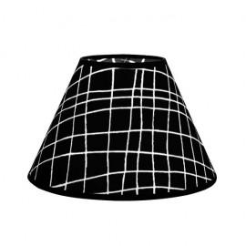 Pantalla Conica Serie Jenifer E27 Cuadro Negro 20dx10dx13h