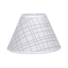 Pantalla Conica Serie Jenifer E27 Cuadro Blanco 35dx18dx23h