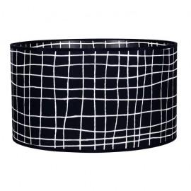 Pantalla Cilindrica Serie Jenifer E27 Cuadro Negro 20x35 D