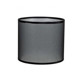 Pantalla Cilindrica Serie Karina E27 Rejilla Negra 13x14 D