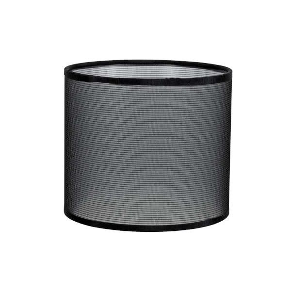 Pantalla Cilindrica Serie Karina E27 Rejilla Negra 14x16 D